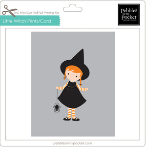 Little Witch Prints/Card Digital Download Pdf