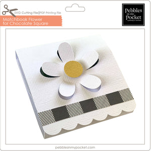 Matchbook Daisy for Chocolate Square Digital Download SVG & Pdf