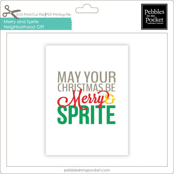Merry & Sprite Neighborhood Gift Tags Digital Download Print/Cut SVG and Pdf
