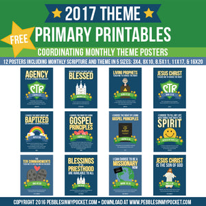 Primary 2017 Monthly Theme Posters Digital Download Pdf & Jpgs FREE