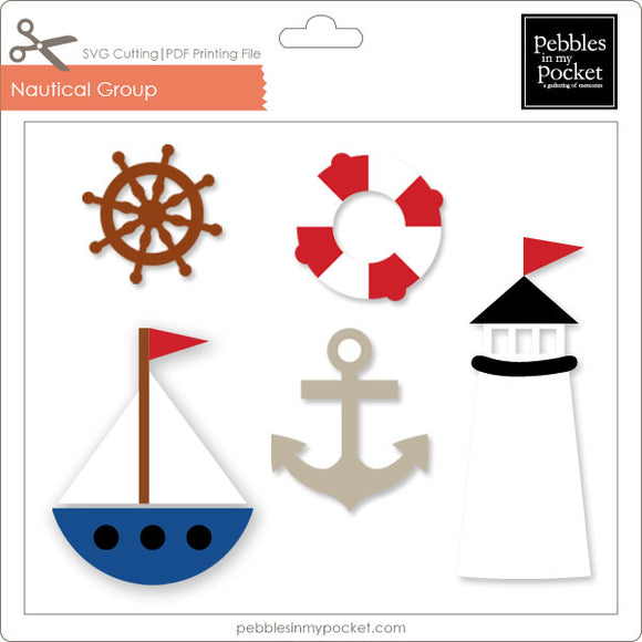 Nautical Group Digital Download SVG & Pdf