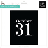October 31 Prints/Card Digital Download Print/Cut SVG & Pdf