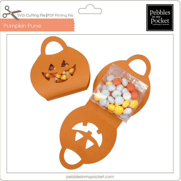 Pumpkin Purse Digital Download SVG & Pdf