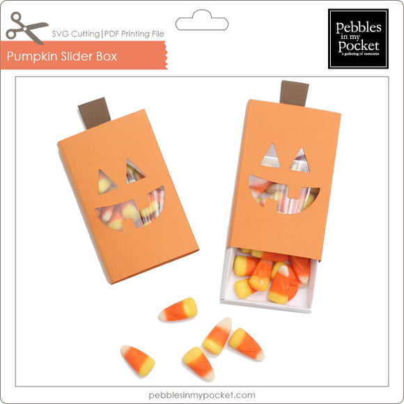 Pumpkin Slider Box Digital Download SVG & Pdf