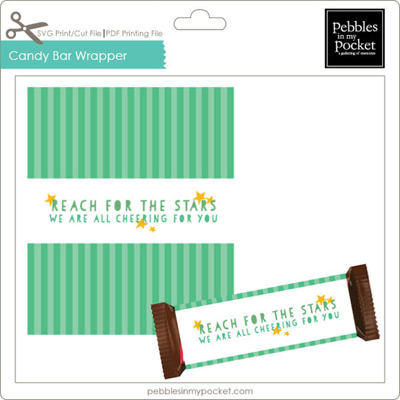 Reach for the Stars Candy Bar Wrapper Digital Download Print/Cut SVG & Pdf