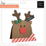 Reindeer Place Card Digital Download SVG & Pdf