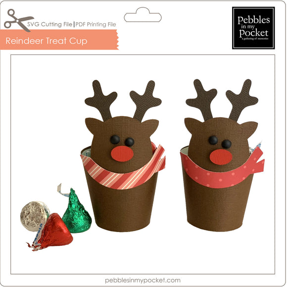 Reindeer Treat Cup Digital Download SVG & Pdf
