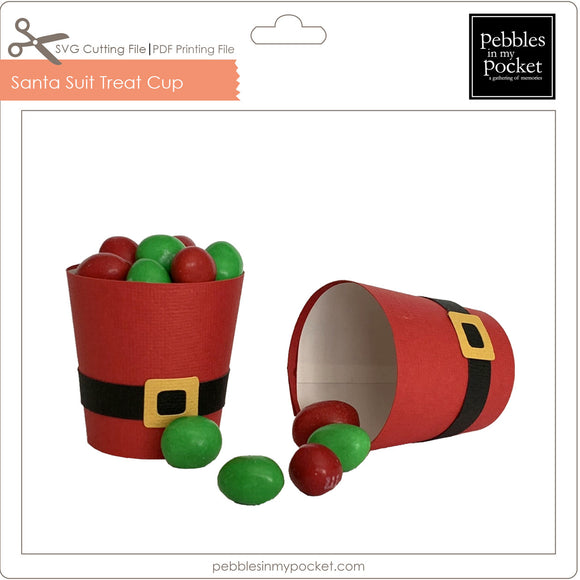 Santa Suit Treat Cup Digital Download SVG & Pdf