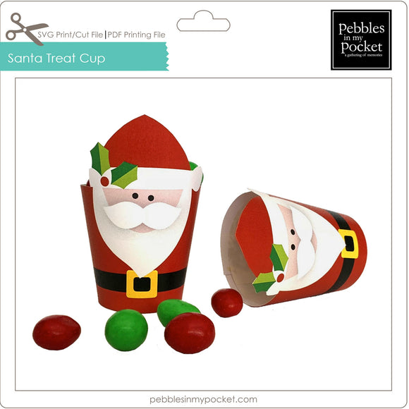 Santa Treat Cup Digital Download SVG & Pdf