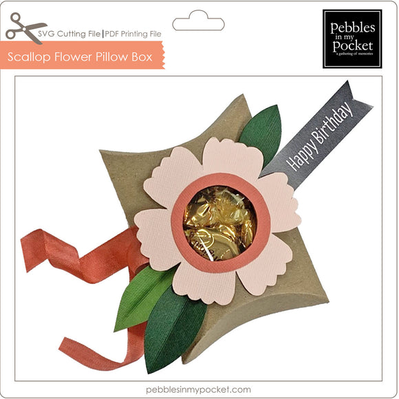 Scallop Flower Pillow Box Digital Download SVG & Pdf