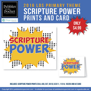 Primary 2016 Scripture Power Prints/Card Digital Download Pdf