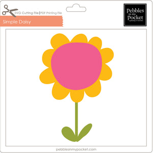 Simple Daisy Digital Download SVG & Pdf