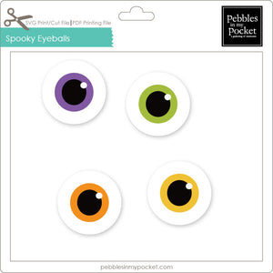 Spooky Eyeballs Digital Download Print/Cut SVG & Pdf