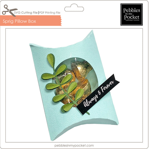 Sprig Pillow Box Digital Download SVG & Pdf