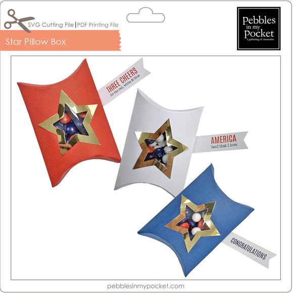Star Pillow Box Digital Download SVG & Pdf