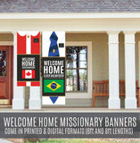 Custom Missionary Banner Vertical