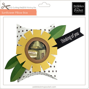 Sunflower Pillow Box Digital Download SVG & Pdf