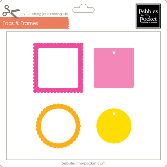 Tags and Frames Digital Download SVG & Pdf