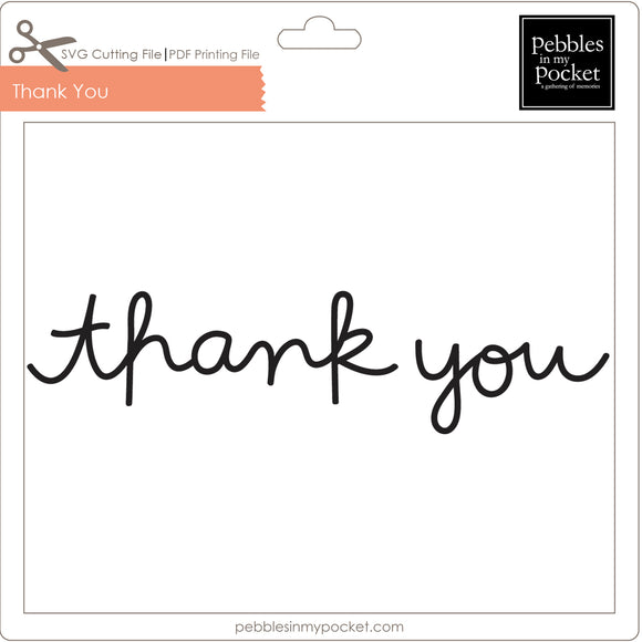Thank You Digital Download SVG & Pdf