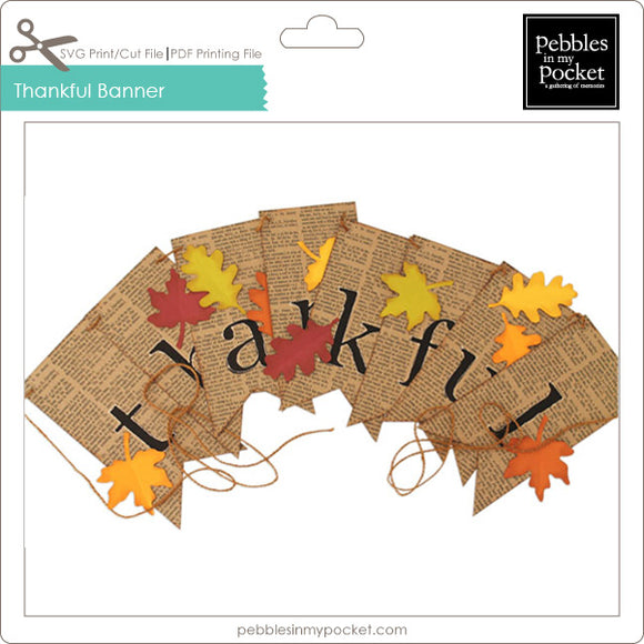 Thankful Banner Digital Download Print/Cut SVG & Pdf