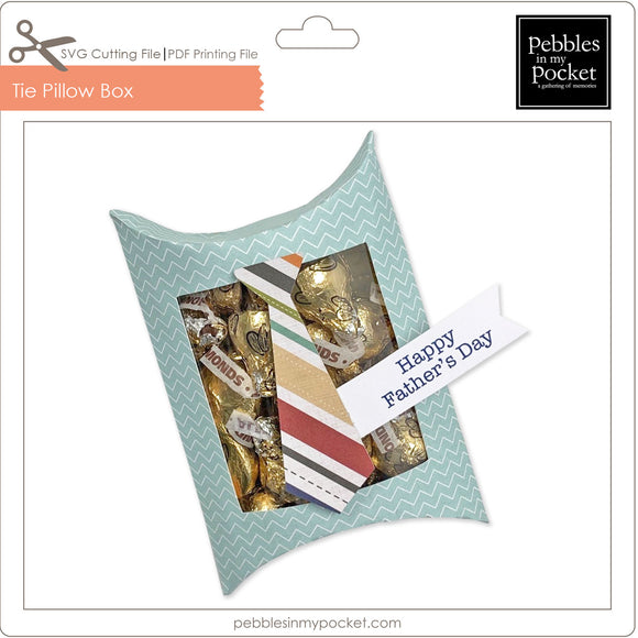 Tie Pillow Box Digital Download SVG & Pdf