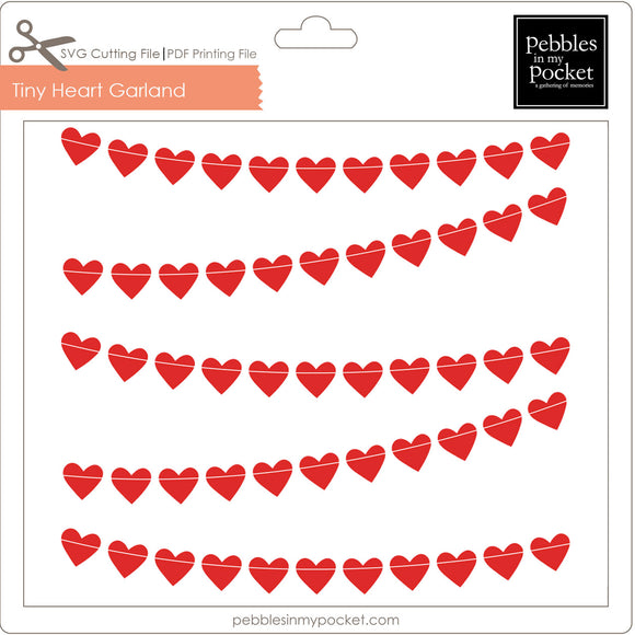 Tiny Heart Garland Digital Download SVG & Pdf