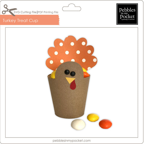 Turkey Treat Cup Digital Download SVG & Pdf