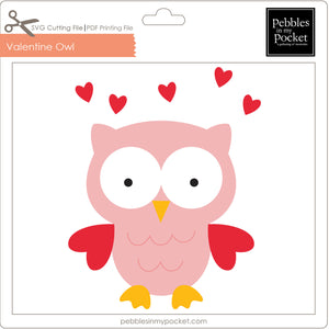 Valentine Owl Digital Download SVG & Pdf