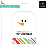 Warm Wishes Snowman Neighborhood Gift Tags Digital Download Print/Cut SVG and Pdf