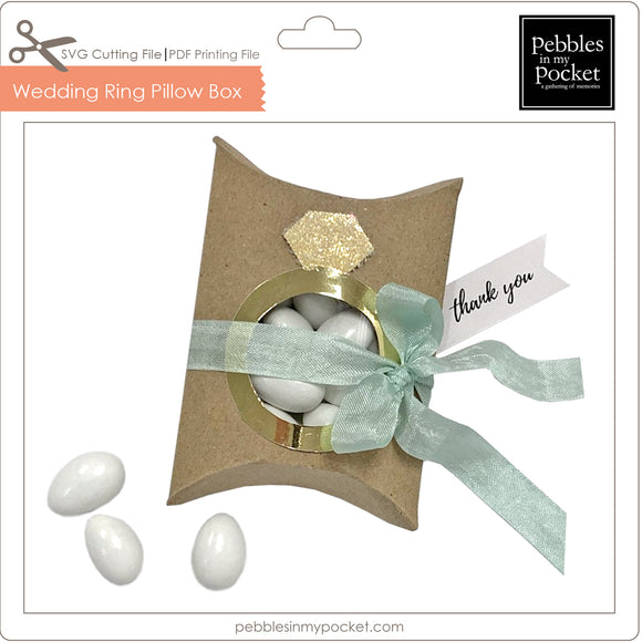 Wedding Ring Pillow Box Digital Download SVG & Pdf