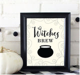 Witches Brew Prints/Card Digital Download Print/Cut SVG & Pdf