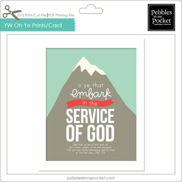 YW Oh Ye That Embark Prints/Card Digital Download Print/Cut SVG & Pdf