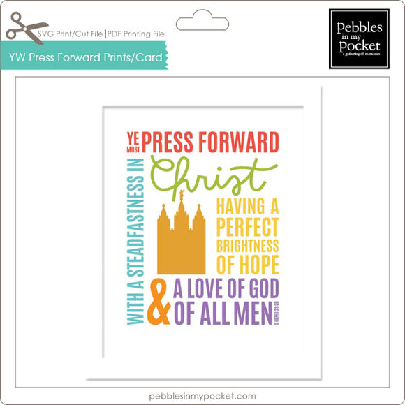 YW Press Forward Prints/Card Digital Download Print/Cut SVG & Pdf