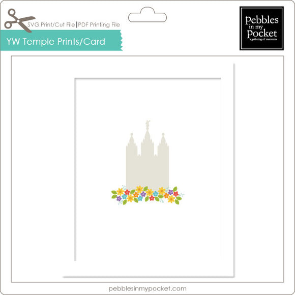 YW Temple Prints/Card Digital Download Print/Cut SVG & Pdf