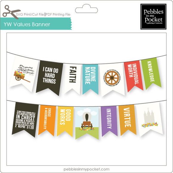 YW Press Forward Handcart Banner Digital Download Print/Cut SVG & Pdf