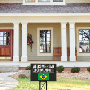 Custom Missionary Yard Sign Black
