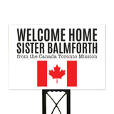 Custom Missionary Yard Sign White