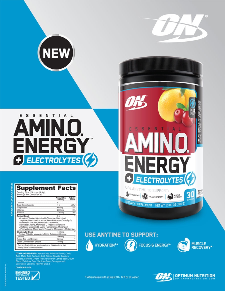 Optimum Nutrition Essential AmiN.O. Energy plus Electrolytes