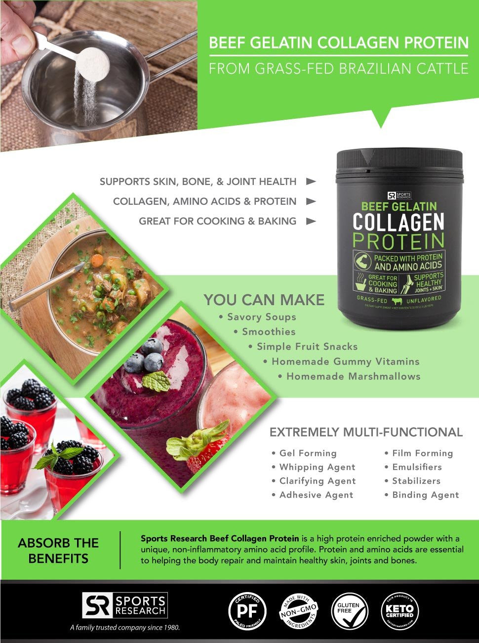 Sports Research Beef Collagen Protein