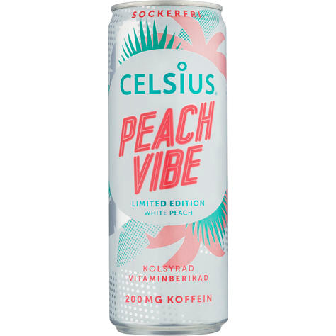 PEACH VIBES CELSIUS ORIGINAL ENERGY DRINK