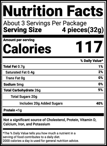 Actual Candy Sour Strips Calories Sugar Nutrition Facts Maxx Chewning