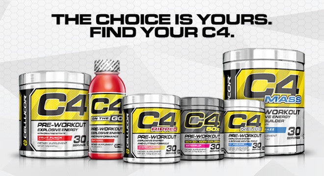 Cellucor C4 Pre Workout Family