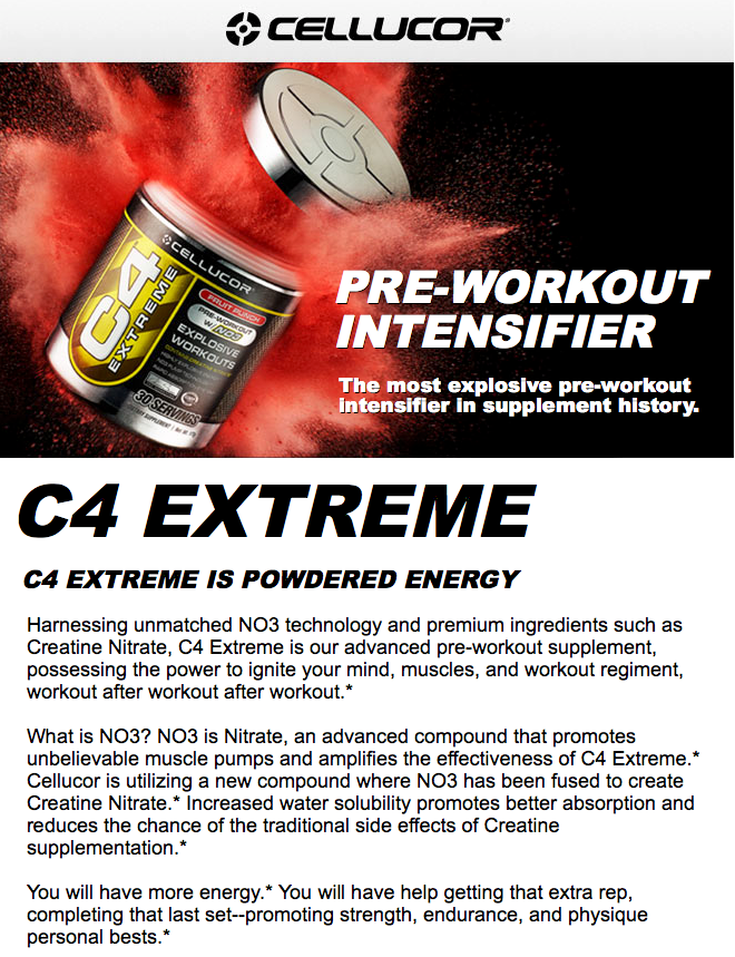 Cellucor C4 Extreme Gen 3