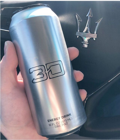 Chrome Silver 3D Energy Drink Flavor