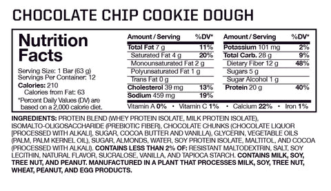 Musclepharm Crunch Bars Nutrition Facts