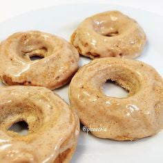 Glazed Snickerdoodle Donuts