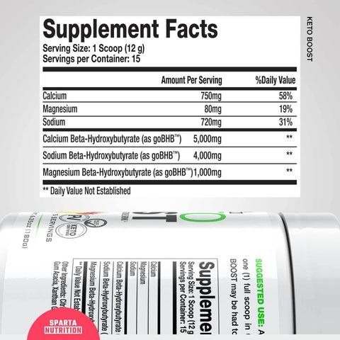 Sparta Nutrition Keto Boost Ketogenic Supplement