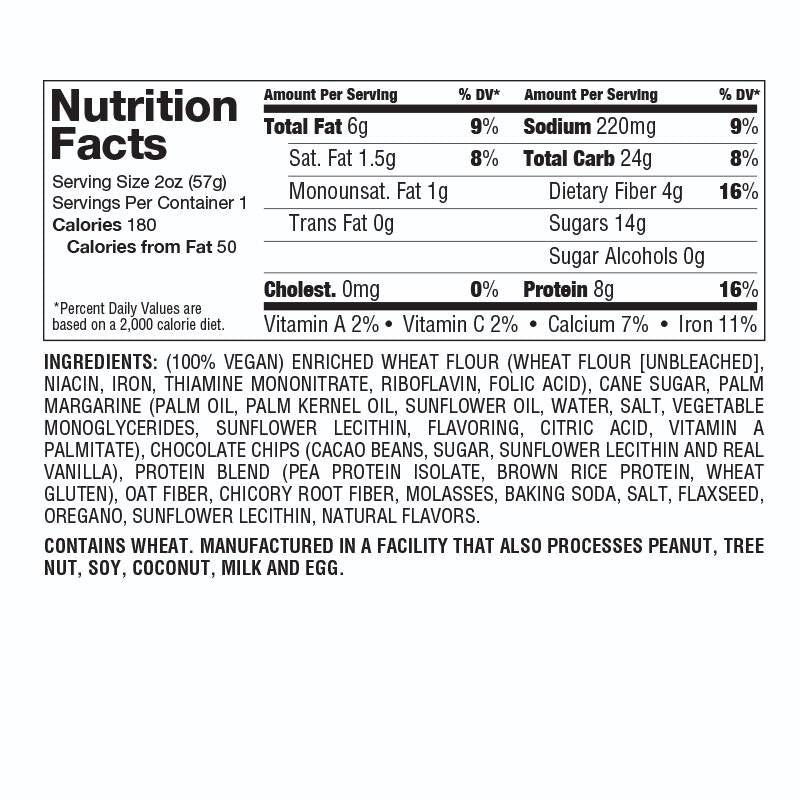 Protein Cookie by Lenny and Larry Nutrition Facts