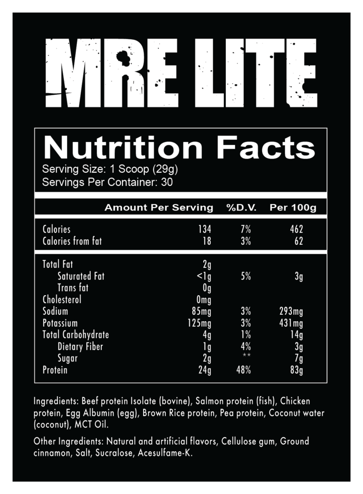 RedCon 1 MRE Lite Meal Replacement Protein