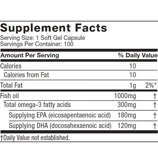 Platinum 100% Fish Oil Nutrition